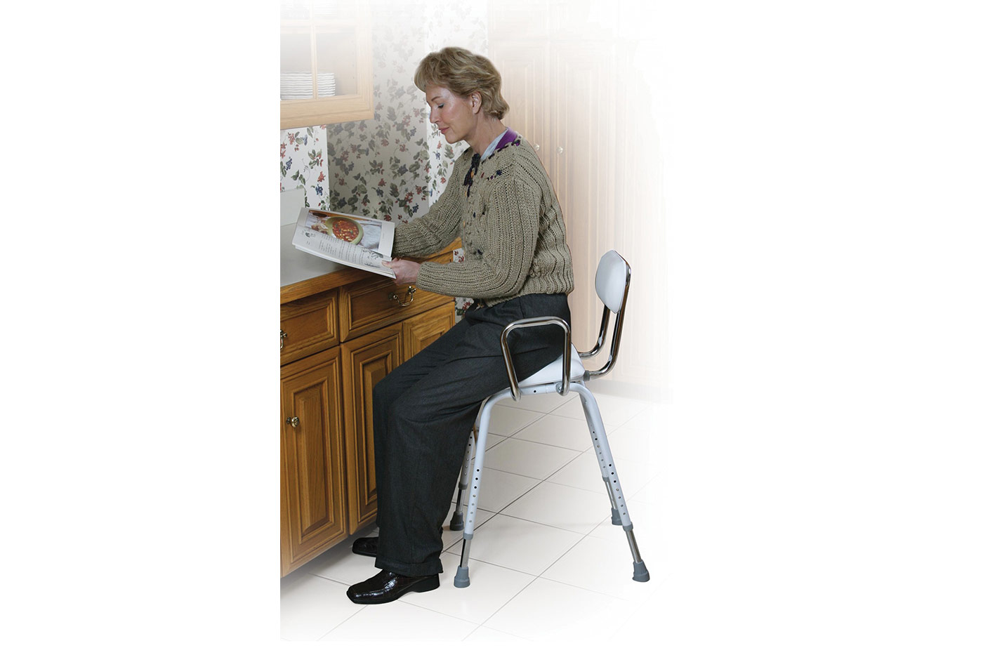 All Purpose Stool With Adjustable Arms Mountain Aire