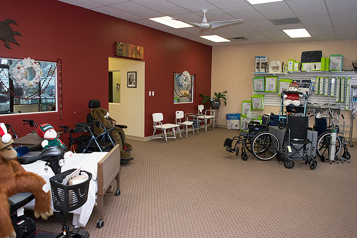 Inside Mountain Aire Medical Supplies Store