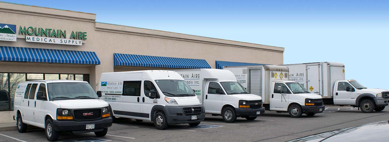 Inside Mountain Aire Medical Supplies Store: Our Delivery Vehicle Fleet