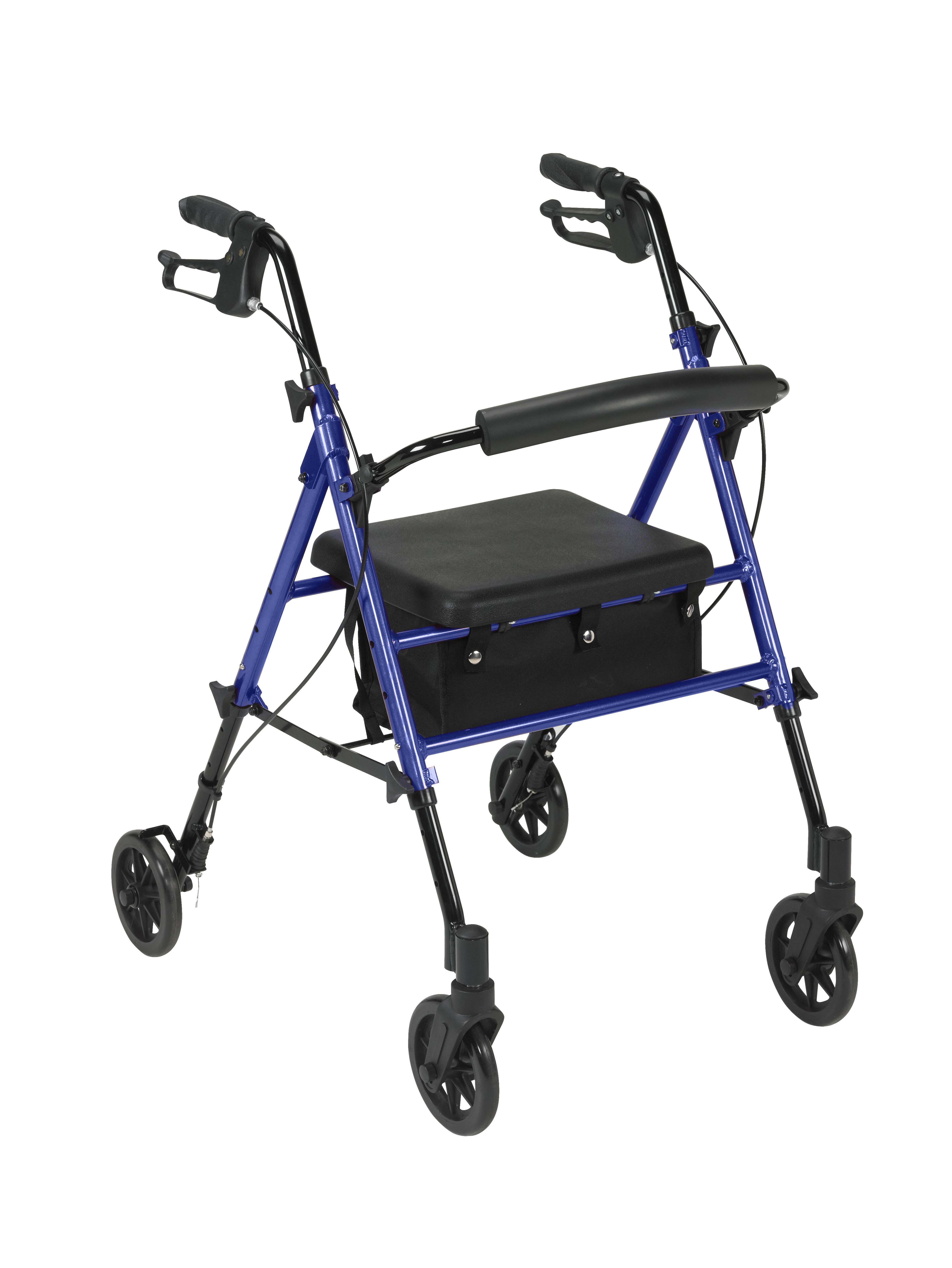 Adjustable Height Rollator Rolling Walker With 6 Quot Wheels