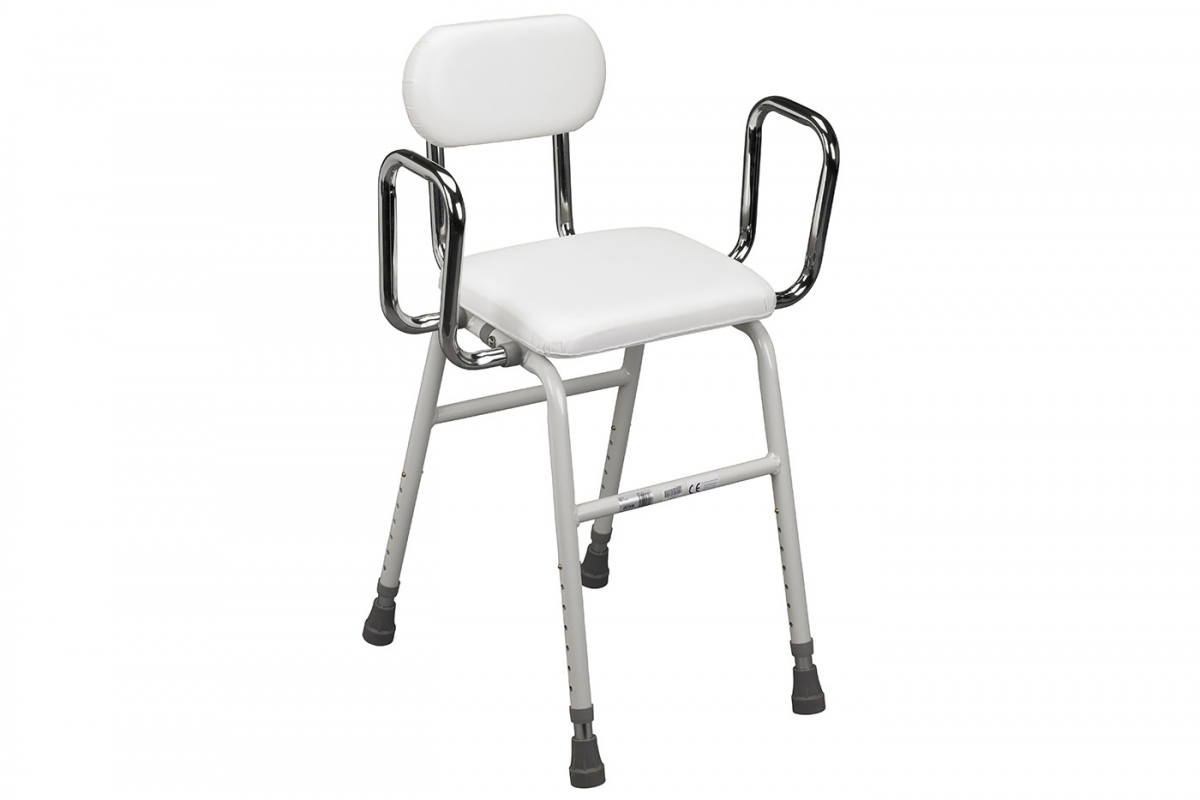 All-Purpose Stool with Adjustable Arms from Drive
