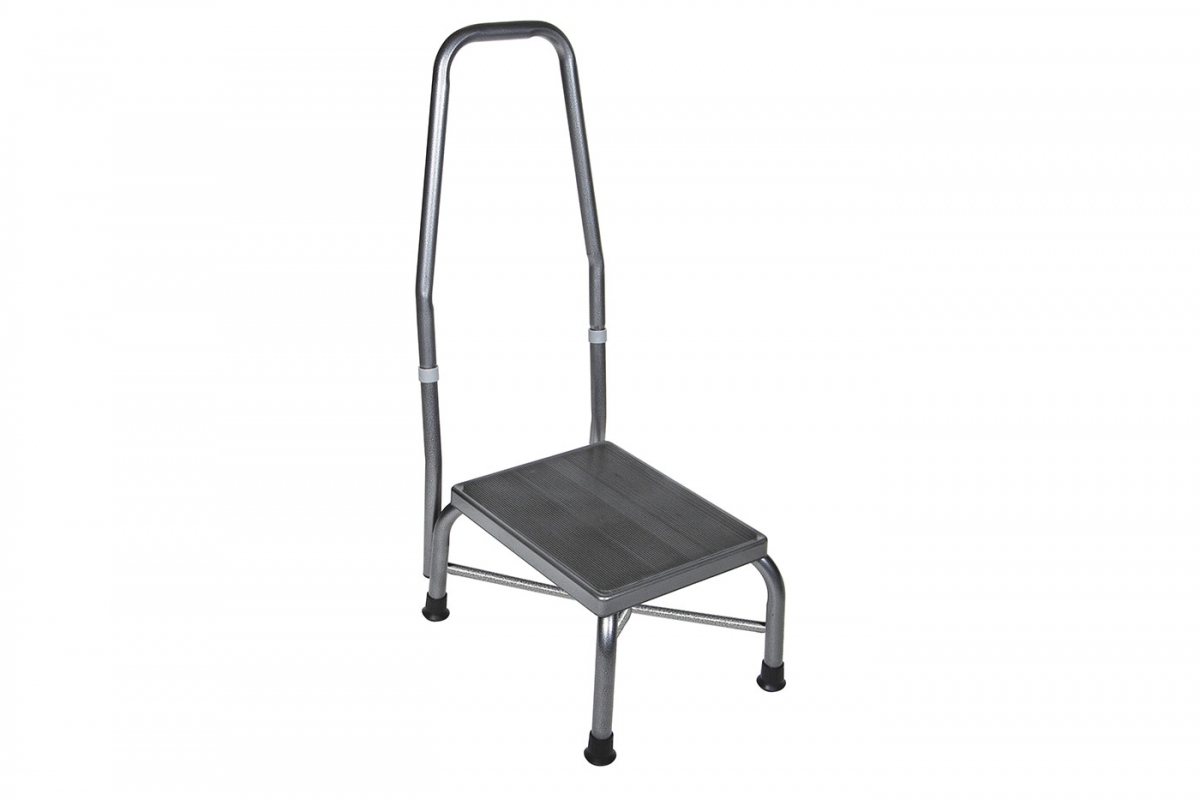 Bariatric Foot Stool with Handrail