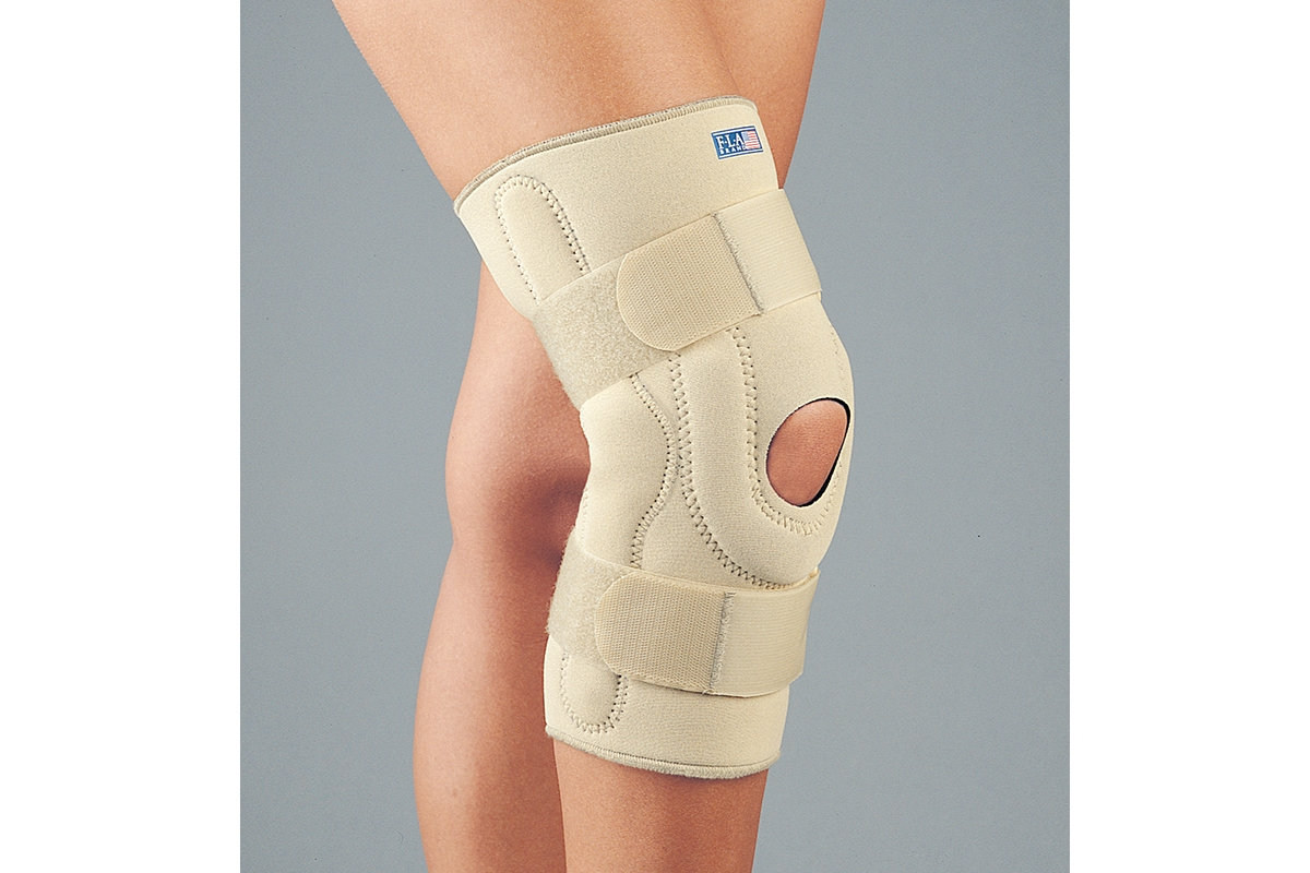 Professional Grade Neoprene Stabilizing Knee Brace with hinges - Small