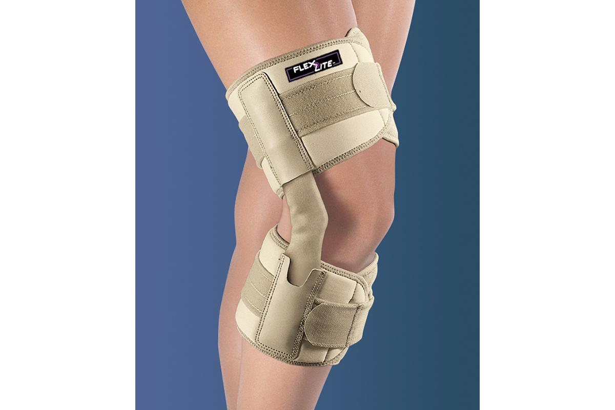 Flex Lite Hinged Knee Support - Beige