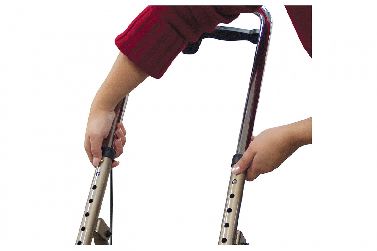 Drive Economy Knee Walker. Tool-free leg and handle-height adjustments.