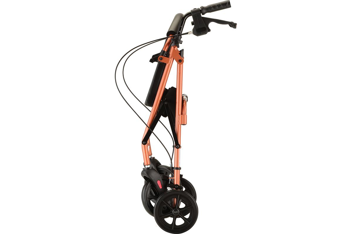 Vibe 8 Rolling Walker - Orange, folded