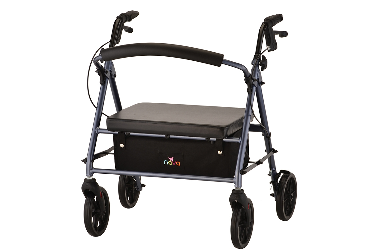 Vibe Petite Wide Rolling Walker - Blue