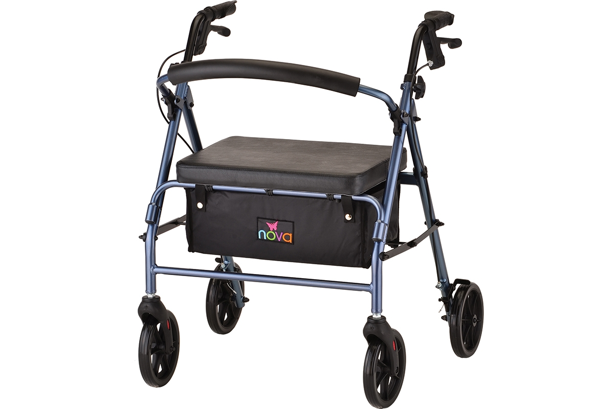 Vibe Wide Rolling Walker - Blue
