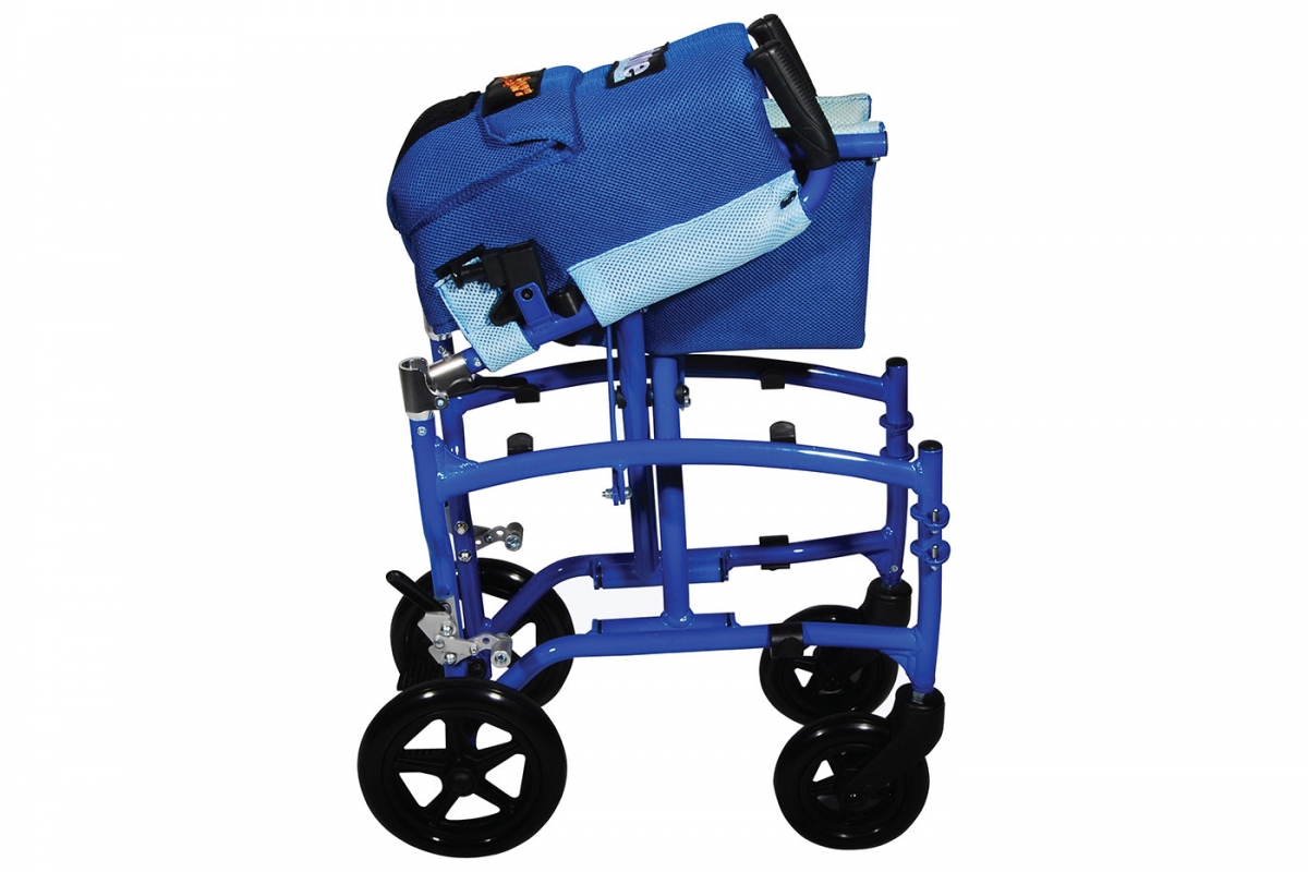TranSport Aluminum Transport Chair from Drive DeVilbiss Healthcare, Folded