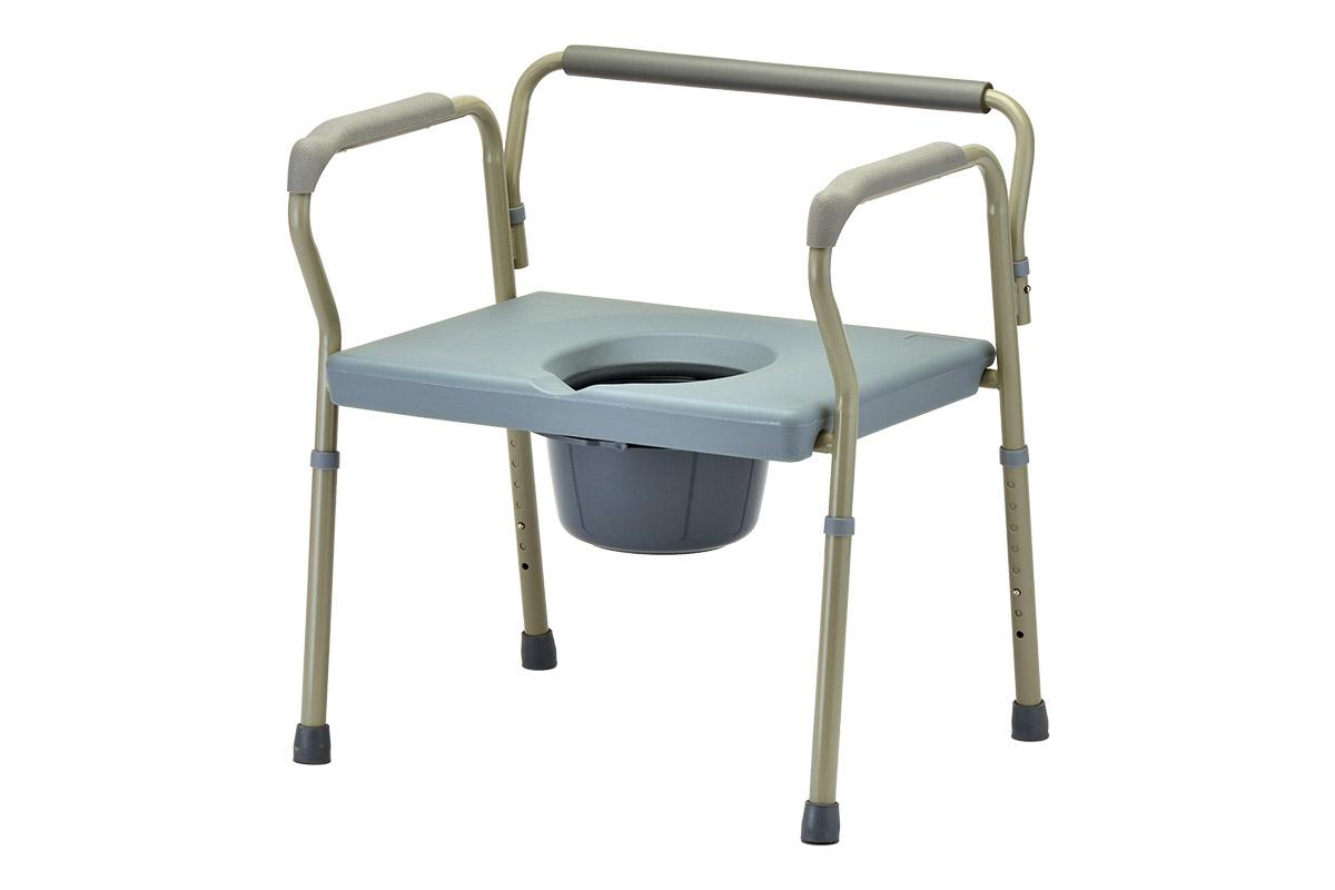 Heavy Duty Commode with Extra Wide Seat - NOVA