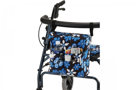 Hanging Walker Bag - Aloha Blue Floral