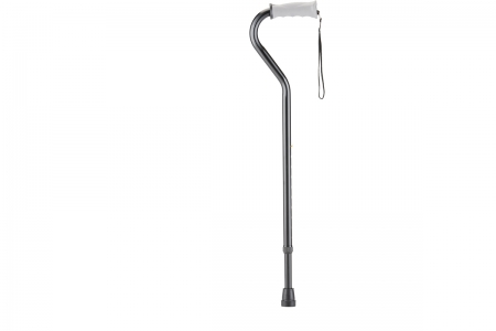 Offset Cane with Soft Grip Handle - Black