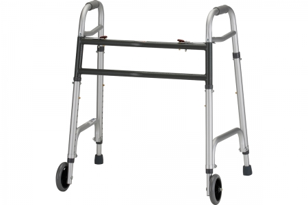 "Heavy Duty Folding Walker with 5"" Wheels"