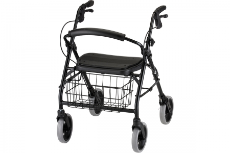 Cruiser Deluxe Rolling Walker - Black