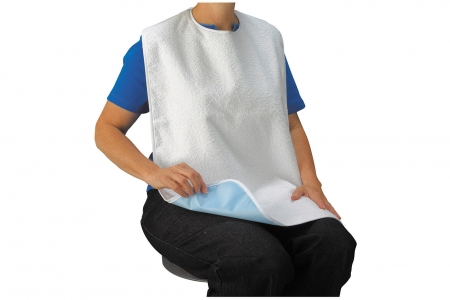 Terry Bib with Liner, Front