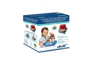 Townhouse Interactive Building Block Compressor Nebulizer from Drive DeVilbiss Healthcare, Retail Packaging