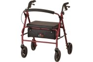 Vibe Wide Rolling Walker - Red